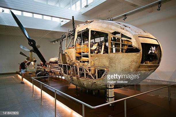 Germany, Baden-Wurttemberg, Lake Constance Area, Friedrichshafen, Zeppelin Museum, Engine compartment