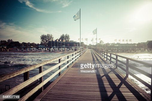 Germany, Baltic Sea, Dahme, jetty by the sea