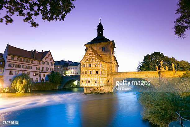 Germany, Bamberg, bridge and cityscape