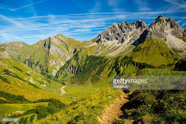 Germany, Bavaria, Allgaeu Alps, view over the Oytal