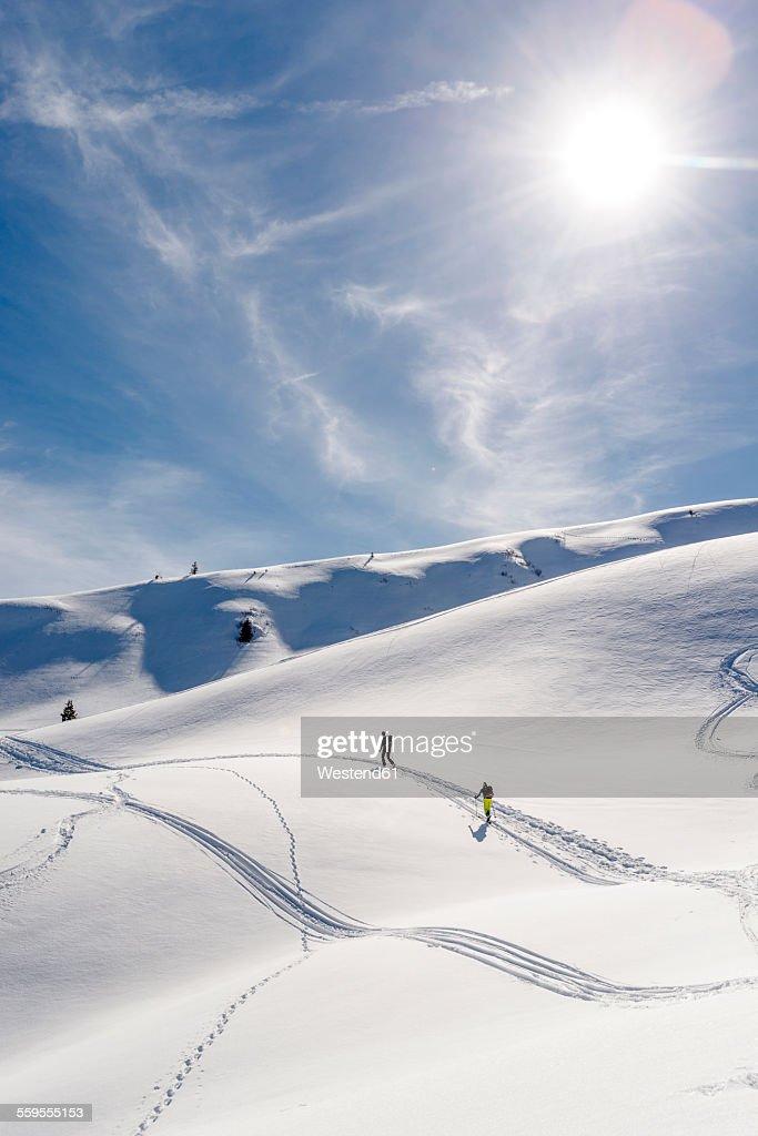 Germany, Bavaria, Bolsterlang, ski tour