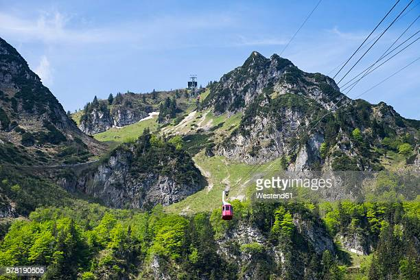 Germany, Bavaria, Chiemgau Alps, Hochfelln and Hochfelln cable car