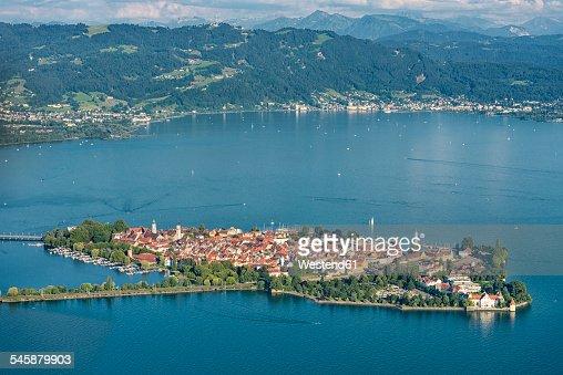 Germany, Bavaria, Lake Constance, Lindau, island and Pfaender
