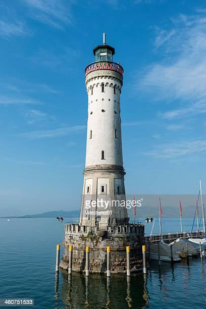 Germany, Bavaria, Lindau, View of Lighthouse near harbour
