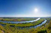 Germany, Bavaria, Lower Bavaria, Danube river with Bogen Altarm