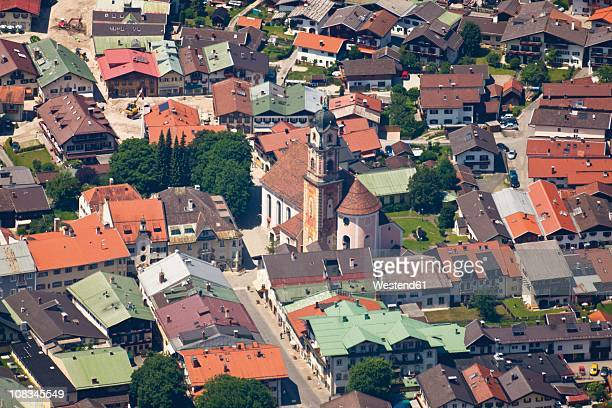 Germany, Bavaria, Mittenwald, Aerial view of village
