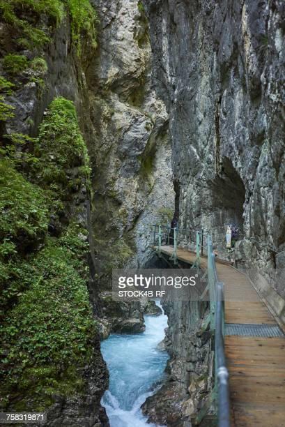 'Germany, Bavaria, Mittenwald, Leutasch Gorge'