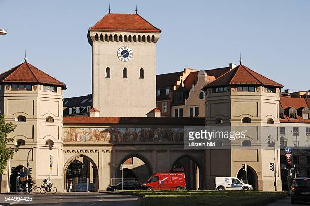 Germany Bavaria Muenchen Munich 'Isartor' an old city gate