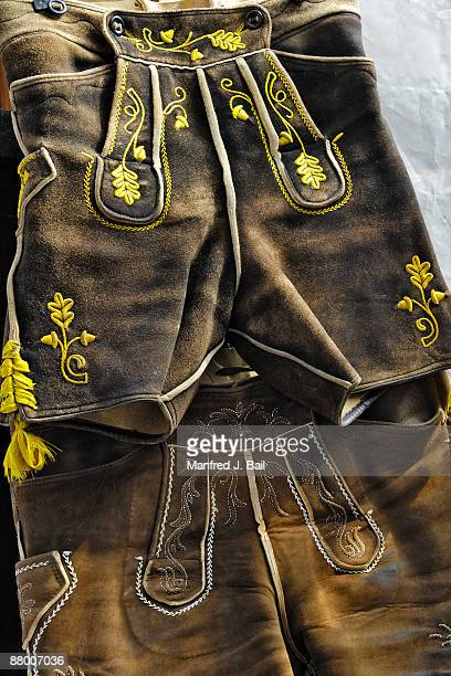 Germany, Bavaria, Munich, Bavarian costume, close-up