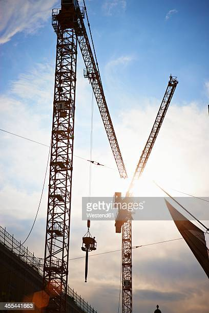 Germany, Bavaria, Munich, Construction area with tower crane