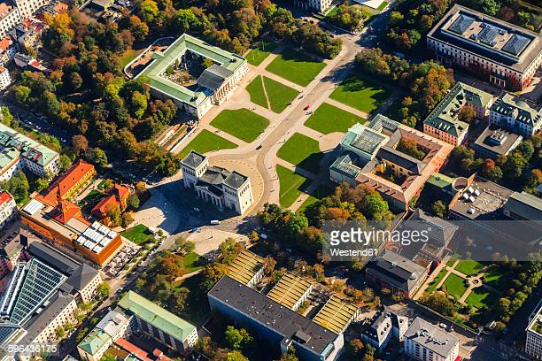 Germany, Bavaria, Munich, Glyptothek and Propylaea at Konigsplatz