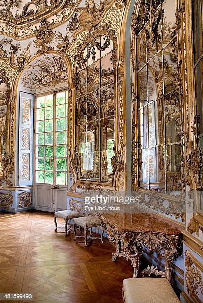 Germany Bavaria Munich Nymphenburg Palace Amalienburg The Hall of Mirrors Hunting lodge created for Electress Amalia in European Rococo style Highly...