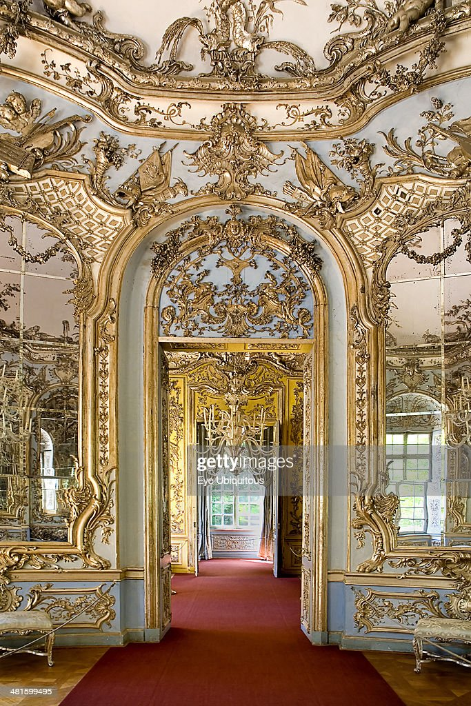 germany bavaria munich nymphenburg palace amalienburg the hall of pictures getty images. Black Bedroom Furniture Sets. Home Design Ideas