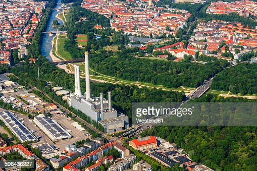 Germany Bavaria Munich Sendling Heating Plant At Isar