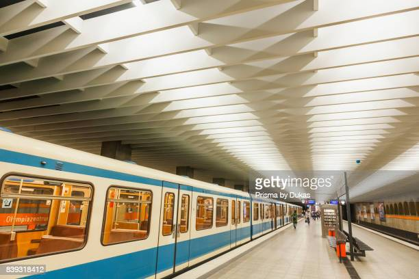 Germany Bavaria Munich Subway Subway Platform and Train