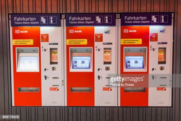 Germany Bavaria Munich Subway Ticket Vending Machines