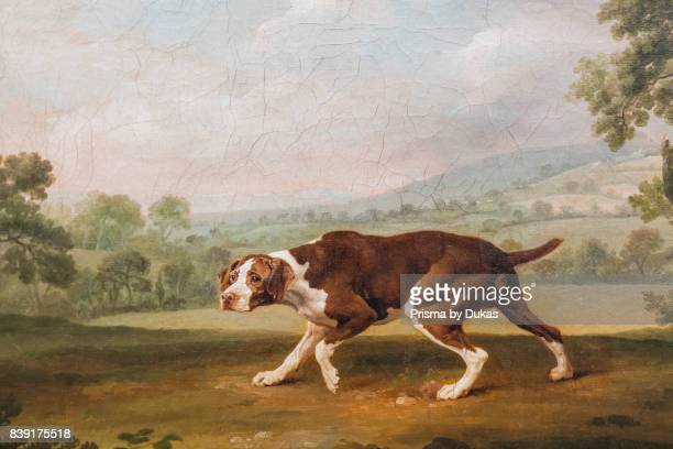 Germany Bavaria Munich The New Pinakothek Museum Painting titled 'The Pointer' by George Stubbs dated 1760