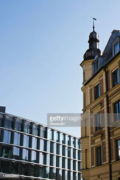 Germany, Bavaria, Munich Westend, Exterior of modern and old building