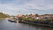 Germany, Bavaria, Passau, historic city center at River Danube, Panorama