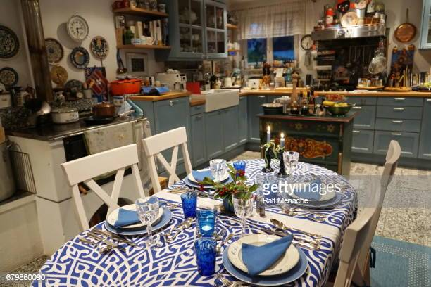 Germany, Bavaria. Typical modern country kitchen.
