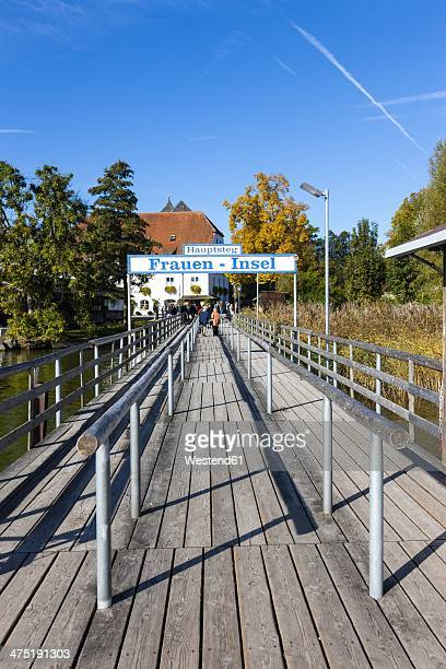 Germany, Bavaria, Upper Bavaria, Chiemgau, Chiemsee, Frauenchiemsee, jetty