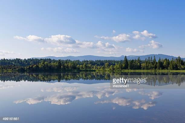 Germany, Bavaria, Upper Bavaria, Sachsenkam, Kirchsee lake