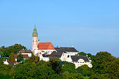 Germany, Bavaria, Upper Bavaria, View of Andechs Abbey