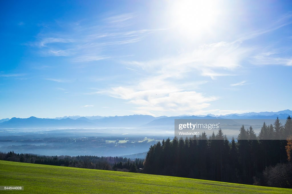 Germany, Bavaria, view from Hohenpeissenberg : Photo
