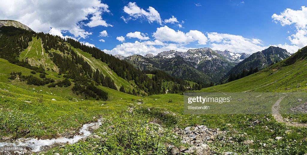 Germany, Bavaria, View of Allgaeu High Alps