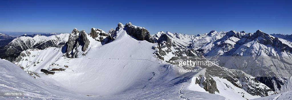 Germany, Bavaria, View of Karwendel Mountains