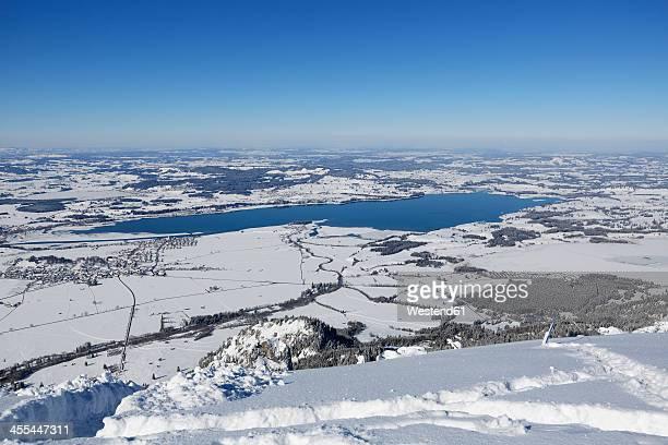Germany, Bavaria, View of Lake Forggensee