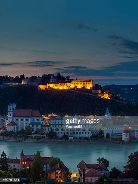 Germany, Bavaria, View of Oberhaus fortress with old town