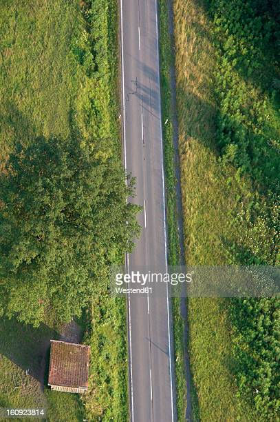Germany, Bavaria, View of single track with lush landscape