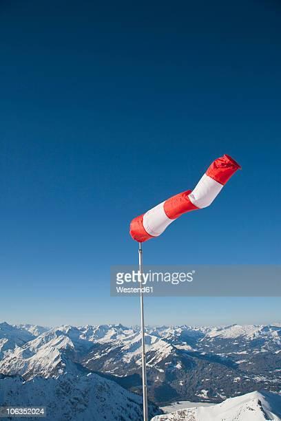 Germany, Bavaria, Wind socks on mountain ranges