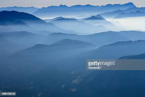 Germany, Bavaria, Zugspitze and Wetterstein mountains