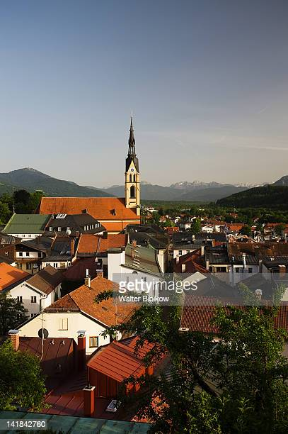 Germany, Bayern/Bavaria, Bad Tolz, Town overview