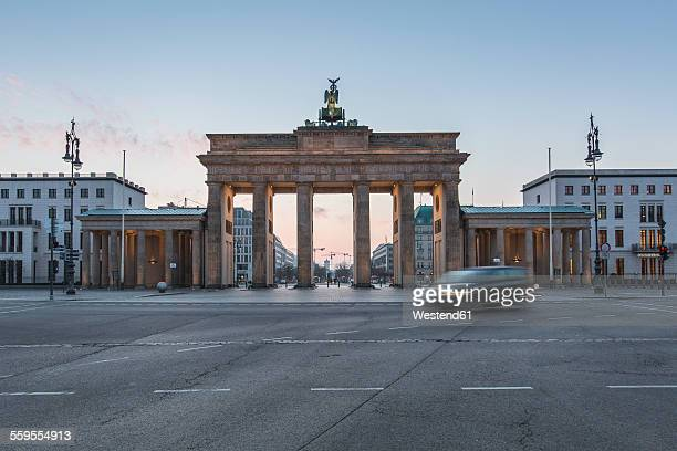 Germany, Berlin, Brandenburg Gate at dawn