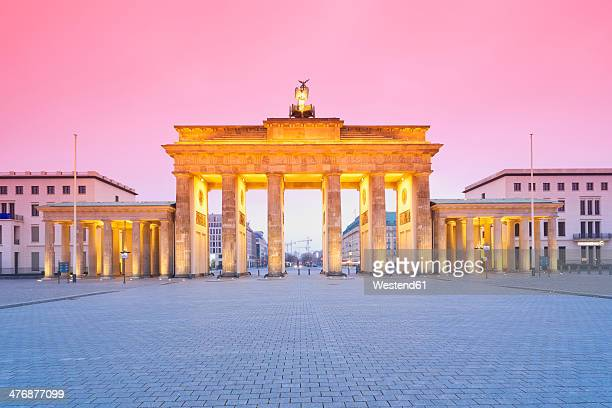 Germany, Berlin Brandenburg Gate in the evening