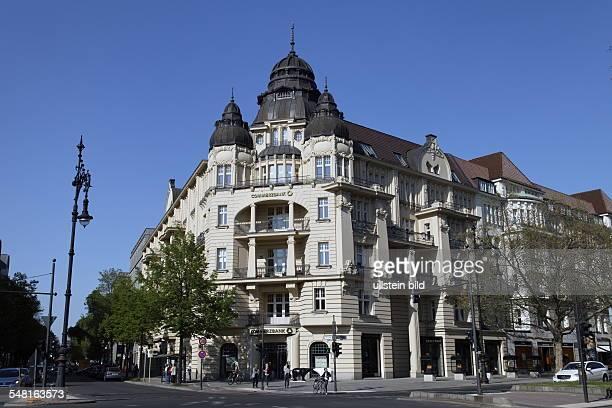 Germany Berlin Charlottenburg Wilhelminian style mansion at the corner 'Kurfuerstendamm' and 'Leibnizstrasse'