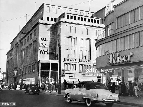 germany berlin department store kadewe 1955 pictures getty images. Black Bedroom Furniture Sets. Home Design Ideas
