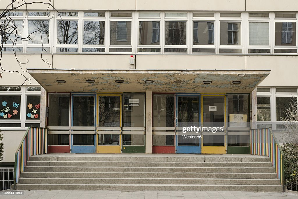 Germany, Berlin, Entrance of school
