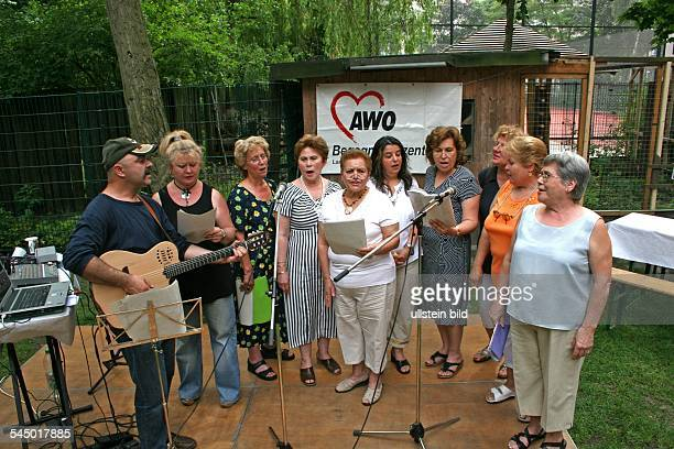 Germany Berlin Kreuzberg AWO festivity for senior citizens turkish female choir of former so called 'Gastarbeiter'