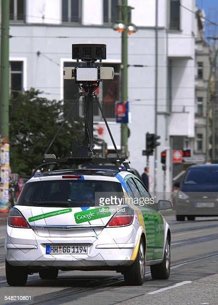 Germany Berlin Kreuzberg Google maps camera car at Warschauer Bruecke