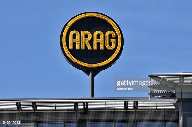 Germany Berlin Logo of the ARAG insurence company at Wittenbergplatz