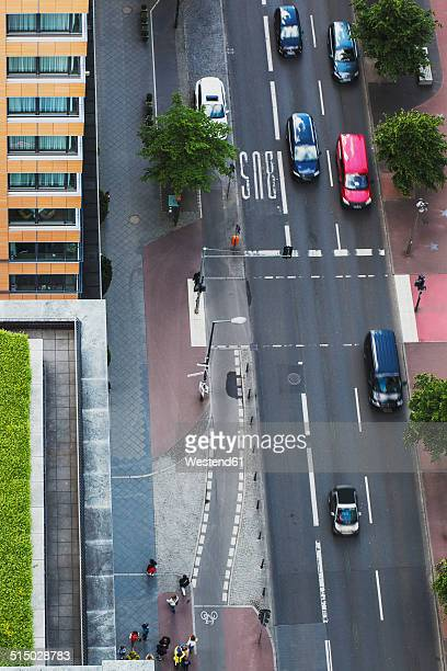Germany, Berlin, main road with traffic at Berlin Mitte, bird's view
