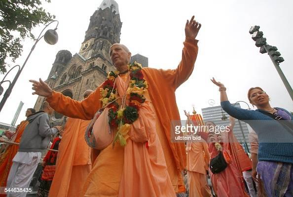 Germany Berlin members of Hare Krishna community celebrating their anniversary