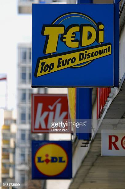 Germany Berlin Mitte cheap shops and discounter at Leipziger Strasse