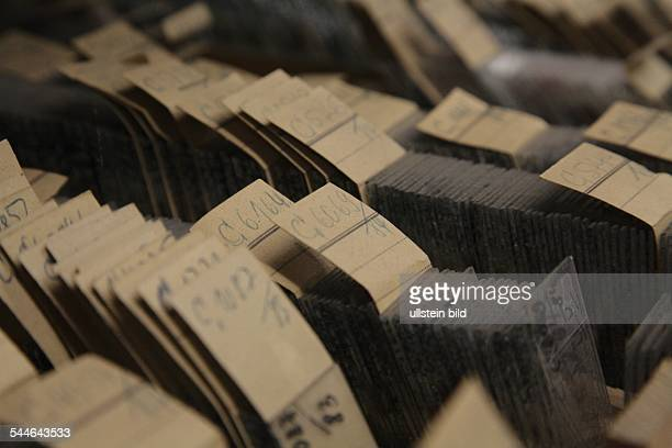 clinic Charite archiv patient files histological preparations on object slides