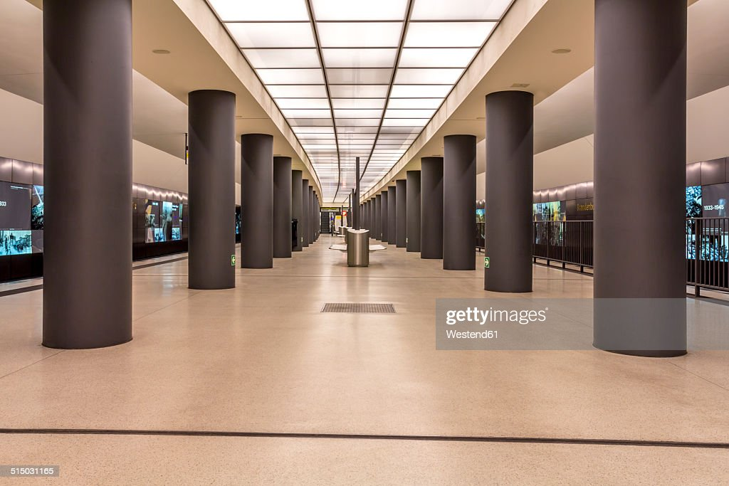Germany, Berlin, modern architecture of subway station Brandenburger Tor