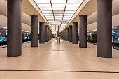 Germany, Berlin, modern architecture of subway station Brandenburger Tor